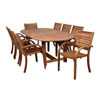 This item: Arizona Nine-Piece Eucalyptus Oval Dining Set