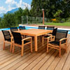 This item: Amazonia Sunset View 9 Piece Teak Square Dining Set with Black Sling Chair