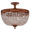 This item: Winchester French Gold Six-Light Semi-Flush