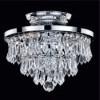 This item: Vista Silver Pearl Three-Light Semi-Flush Mount with Signature Crystal