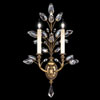 This item: Crystal Laurel Gold Two-Light Wall Sconce