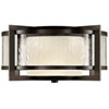 This item: Singapore Two-Light Outdoor Flush Mount in Dark Bronze Patina Finish