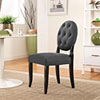 This item: Button Dining Side Chair in Gray