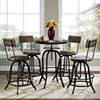 This item: Procure Bar Stool Set of 4 in Brown