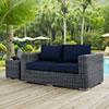 This item: Summon Outdoor Patio Sunbrella® Loveseat in Canvas Navy