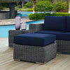 This item: Summon Outdoor Patio Sunbrella® Ottoman in Canvas Navy
