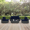 This item: Sojourn 5 Piece Outdoor Patio Sunbrella® Sectional Set in Canvas Navy