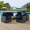 This item: Sojourn 7 Piece Outdoor Patio Sunbrella® Sectional Set in Canvas Navy