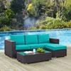 This item: Convene 3 Piece Outdoor Patio Sofa Set in Espresso Turquoise