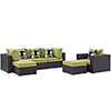 This item: Convene 6 Piece Outdoor Patio Sectional Set in Espresso Peridot