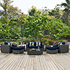This item: Sojourn 8 Piece Outdoor Patio Sunbrella Sectional Set in Canvas Navy