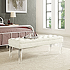 This item: Valet Velvet Bench in Ivory