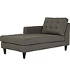 This item: Empress Left-Arm Upholstered Fabric Chaise in Granite