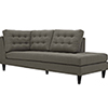 This item: Empress Upholstered Fabric Chaise in Granite