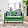 This item: Prospect Upholstered Fabric Loveseat in Kelly Green