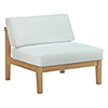This item: Bayport Outdoor Patio Teak Armless in Natural White