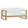 This item: Upland Outdoor Patio Teak Sofa in Natural White