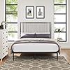 This item: Annika Queen Platform Bed in Brown