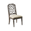 This item: Vintage Salvage Makers 42-Inch Tristan Fret Back Side Chair, Set of Two