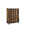 This item: Continental Weathered Nutmeg Drawer Chest