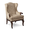 This item: Continental Weathered Nutmeg Wingback Arm Chair
