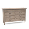 This item: Anna Jordan Weathered Oak Eight Drawer Dresser