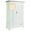 This item: Summer Creek Scrubbed Oak and Harbor White 50-Inch Seafarers Chest
