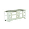 This item: Summer Creek Scrubbed Oak and Harbor White 70-Inch Oriental Club Console