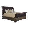 This item: Landmark Mocha 73-Inch Queen Uph Sleigh Bed
