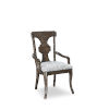 This item: Landmark Mocha 41-Inch Splat Back Arm Chair, Set of Two