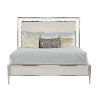 This item: La Scala Ivory and Nickel 66-Inch Queen Panel Bed