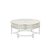 This item: La Scala Ivory and Nickel 42-Inch Cocktail Table