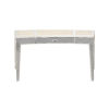 This item: La Scala Ivory and Nickel 36-Inch Writing Desk