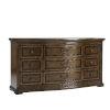 This item: Kingsport Medium Oak 73-Inch Kingsport Nine-Drawer Dresser