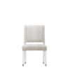 This item: Epicenters 33127 Upholstered Gloss White 38-Inch Side Chair