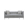 This item: Epicenters 33127 Upholstered Gray 79-Inch DeCarlo Sofa