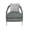 This item: La Scala Ivory 34-Inch Accent Chair