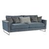 This item: La Scala Nickel 86-Inch Frame Sofa