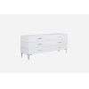 This item: Diva Gloss White and Chrome Double Dresser