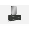 This item: Los Angeles High Gloss Gray Double Dresser with Mirror