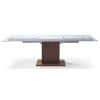 This item: Pilastro Clear and Walnut Extendable Dining Table