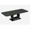 This item: Los Angeles High Gloss Gray Extendable Dining Table