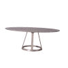 This item: Florence Gray Oval Dining Table