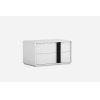 This item: Kimberly Gloss White and Black 31-Inch Nightstand