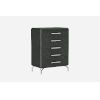 This item: Los Angeles High Gloss Gray Nightstand