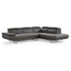 This item: Pandora Dark Gray Sectional Sofa with Right Facing Chaise