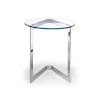 This item: Jasmine Clear and Stainless Steel Side Table