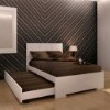 This item: Anna High Gloss White Twin Bed with Trundle
