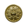 This item: Ornate Polished Brass Round Doorbell Button Cover