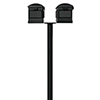 This item: Hanford Black 70-Inch Twin Mailbox Post Mount